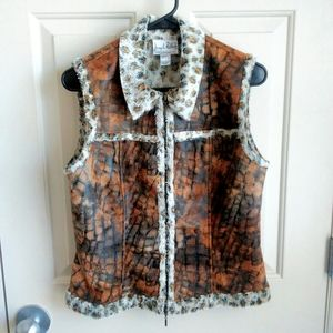 Joseph Ribkoff Women Vegan Leather Vest Size 6